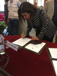 Isabel Fernandez - Protocollo di intesa sul bullismo con il comune di Torino